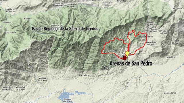 Sierra De Gredos Mapa.Avila Sierra De Gredos